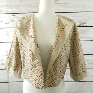 Laundry Shelli Segal Cropped Embroidered Jacket
